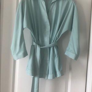 Byron Lars blue peplum blouse